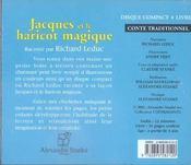 Jacques et le haricot magique - 4ème de couverture - Format classique