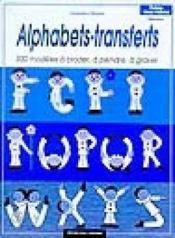 Alphabets - transferts - Couverture - Format classique