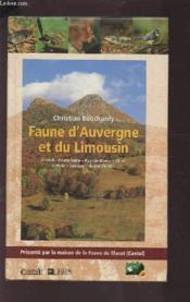 Faune D'Auvergne Et Du Limousin - Couverture - Format classique