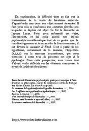 Introduction A La Science Psychanalytique En 2007 - 4ème de couverture - Format classique