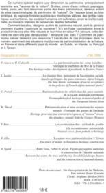 Revue Geographie Et Cultures ; Le Patrimoine Naturel Entre Culture Et Ressources - 4ème de couverture - Format classique