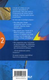 Comment étudier la bible ? - 4ème de couverture - Format classique