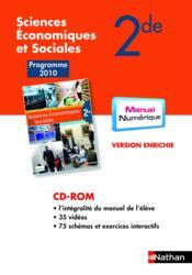 Cd-rom sciences économiques et sociales ; 2de 2; programme 2010 - Couverture - Format classique