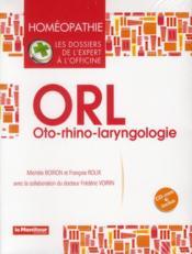 Homeopathie Orl - Couverture - Format classique