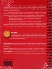 Homeopathie Orl - 4ème de couverture - Format classique