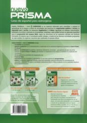 Nuevo prisma C1 ; libro de ejercicios - 4ème de couverture - Format classique