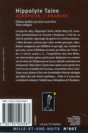 Xénophon, l'anabase - 4ème de couverture - Format classique