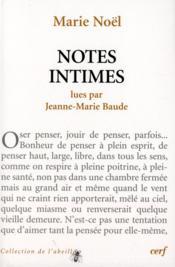 Notes intimes des marie noel - Couverture - Format classique
