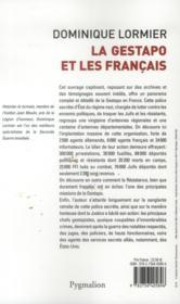 La Gestapo et les Français - 4ème de couverture - Format classique