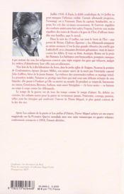 La Liberte Guidait Leurs Pas - Tome 3 - 4ème de couverture - Format classique