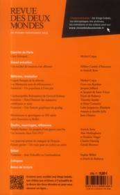 REVUE DES DEUX MONDES N.10.11 ; réformer, c'est révolutionnaire - 4ème de couverture - Format classique