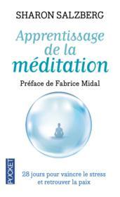 Apprentissage de la méditation - Couverture - Format classique