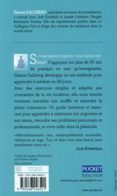 Apprentissage de la méditation - 4ème de couverture - Format classique