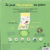 Je joue mes comptines au piano - 4ème de couverture - Format classique