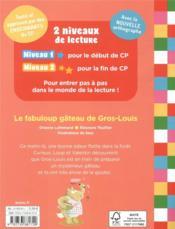 Mes lectures du CP avec Loup ; le fabuloup gâteau de Gros-Louis - 4ème de couverture - Format classique