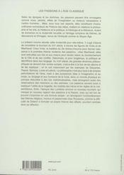 Les passions de l'âge classique t.2 - 4ème de couverture - Format classique