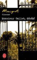 Monsieur Gallet, décédé - Couverture - Format classique