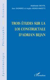 Trois etudes sur la loi constructale d'adrian bejan - Intérieur - Format classique