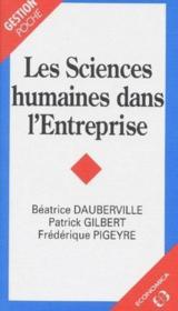 Sciences Humaines Dans L'Entreprise (Les) - Couverture - Format classique