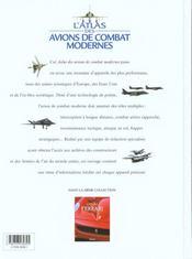 L'Atlas Des Avions De Combat Modernes - 4ème de couverture - Format classique
