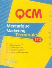 Qcm mercatique marketing ; terminale stg ; nouveau programme - Intérieur - Format classique