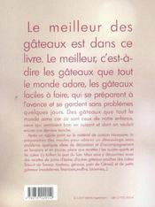 Cakes, Quatre-Quarts, Pains D'Epice ; Que Des Bons Gateaux ! - 4ème de couverture - Format classique