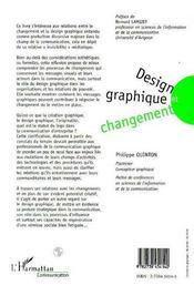 Design Graphique Et Changement - 4ème de couverture - Format classique