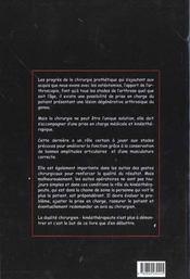Le Genou Degeneratif - 4ème de couverture - Format classique