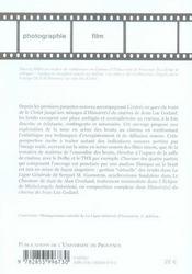 Bruit et cinema - 4ème de couverture - Format classique