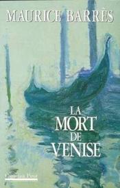 Mort De Venise (La) - Couverture - Format classique