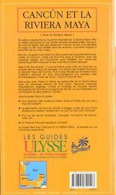 Cancun Et La Riviera Maya ; 2e Edition - 4ème de couverture - Format classique