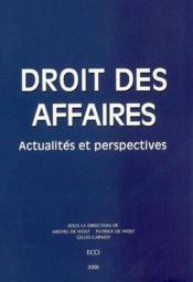 Droit des affaires : actualites et perspectives - Couverture - Format classique