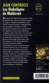 Les diaboliques de Maldormé - 4ème de couverture - Format classique