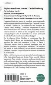 Mythes, emblèmes, traces ; morphologie et histoire - 4ème de couverture - Format classique