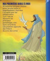 Ma première Bible à moi ; histoire bibliques pour les enfants - 4ème de couverture - Format classique