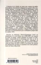 Histoire Religieuse De La Suede (1520 - 1930) - 4ème de couverture - Format classique