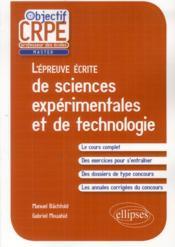 L'épreuve écrite de sciences expérimentales et de technologie - Couverture - Format classique