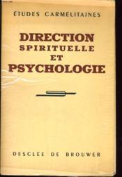 Direction Spirituelle Et Psychologie - Couverture - Format classique