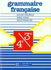 Grammaire française ; 4e et 3e ; livre de l'élève (édition 1988) - Intérieur - Format classique