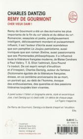 Remy de Gourmont - 4ème de couverture - Format classique