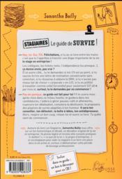Stagiaires : le guide de survie - 4ème de couverture - Format classique