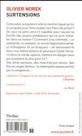 Surtensions - 4ème de couverture - Format classique