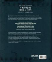 David Hallyday ; tu ne m'as pas laisse le temps ; Johnny Hallyday - 4ème de couverture - Format classique