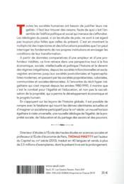 Capital et idéologie - 4ème de couverture - Format classique
