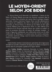 Le Moyen-Orient selon Joe Biden - 4ème de couverture - Format classique
