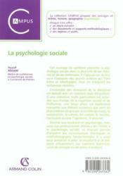 La psychologie sociale - Couverture - Format classique