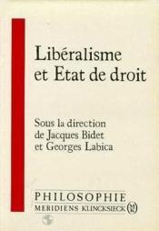 Liberalisme et etat de droit - Couverture - Format classique