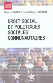 Droit Du Travail Communautaire - Intérieur - Format classique