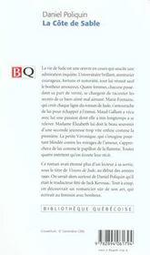 La Cote De Sable - 4ème de couverture - Format classique