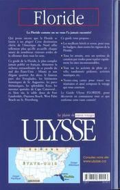 Guide Ulysse ; Floride ; 4e Edition - 4ème de couverture - Format classique